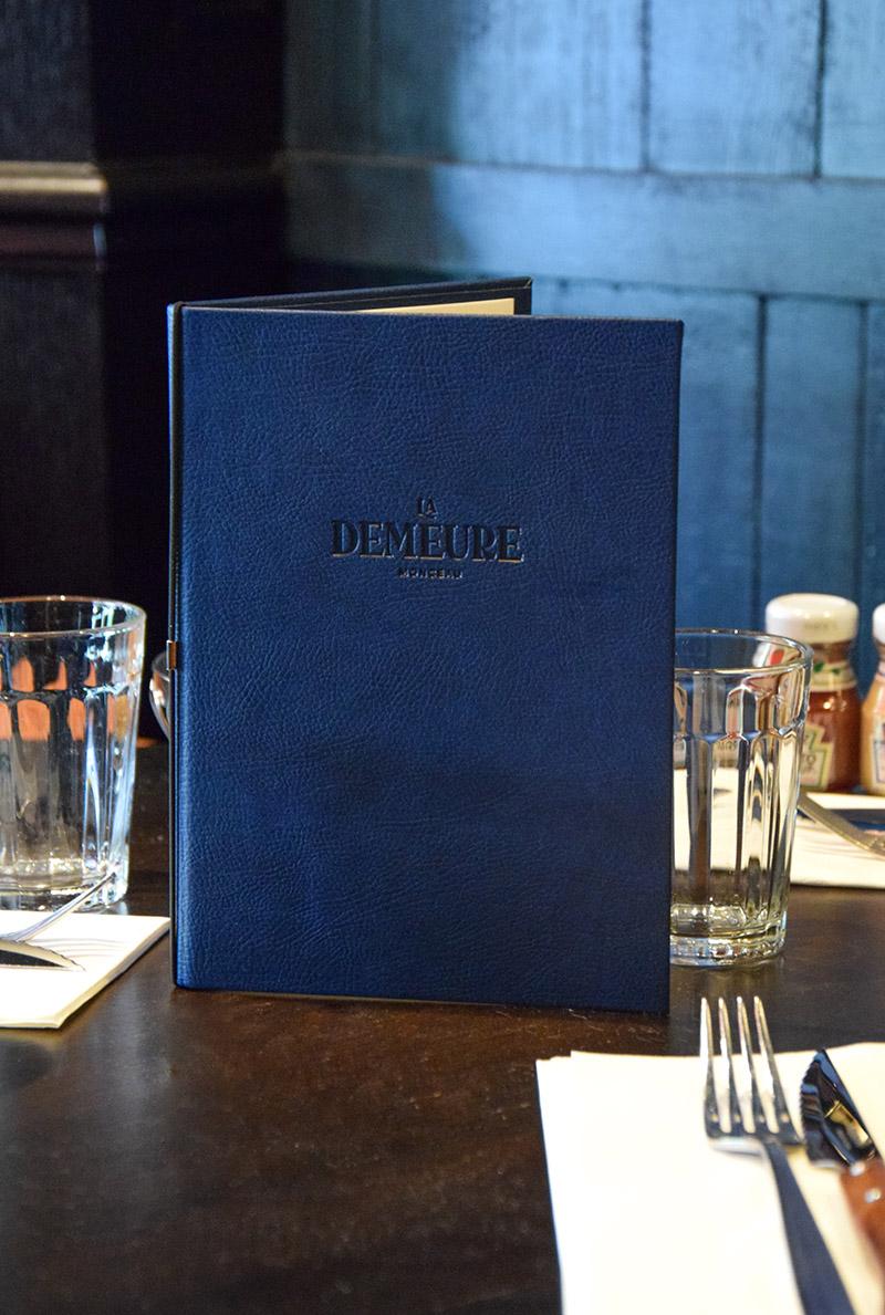 carte Demeure Monceau restaurant Paris